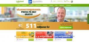 LottoLand hemsida