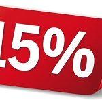 15% rabatt på lotto