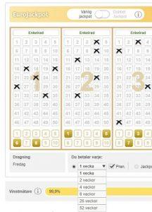 Prenumerera lotto eurojackpot